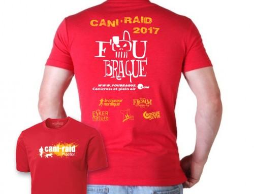T-shirt gratuit du Cani-RAID FouBraque 2017