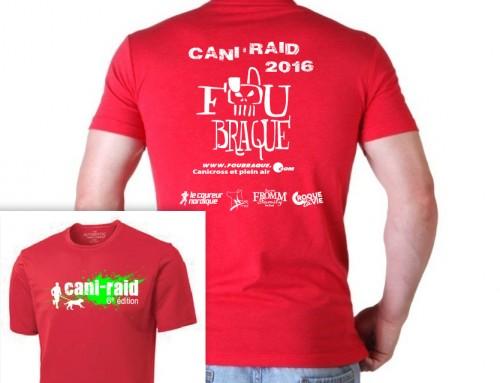 T-shirt gatuit du Cani-RAID FouBraque 2016