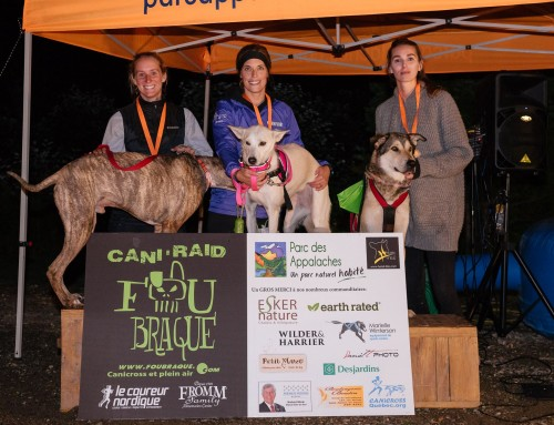 Les Podiums du 7e Cani-RAID FouBraque du Parc des Appalaches – 9 et 10 Septembre 2017